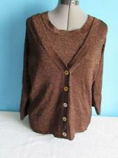 Womens 89th & Madison Top Size Medium And Sweater Size Large Brown Sparkle