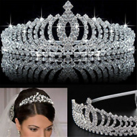 Crystal Rhinestone Wedding Bridal Diamante Crown Princess Headband Hair Bands