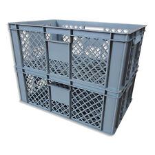 2 x Brotkiste Obst-/ Gemüsebox Lagerkiste Transportbox Gitterbox grau 23cm Höhe