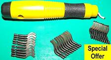 Deburring tool set with 30 HSS blades QUALITY set BSG30