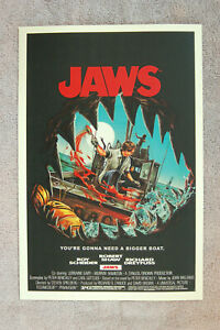 Jaws Lobby Card Movie Poster #2 Roy Scheider Richard Dreyfuss