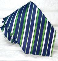 Cravatta uomo Regimental blu classica JACQUARD 100% seta Made in Italy RP€ 38