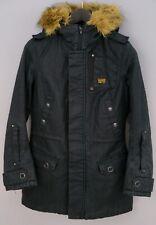 Women G-Star Raw Denim Jacket Parka Casual Cotton Black S UK10 ZKA780