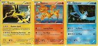 Pokemon Legendary Birds Card Set - Articuno + Moltres + Zapdos - Holo Rares