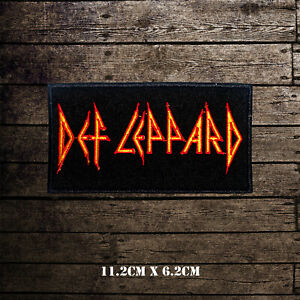 Def Leppard Rock Music Band Embroidered Iron On Sew On Patch Badge