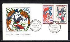 Tchad  enveloppe 1er jour  oiseaux 100 et 200f de    1961
