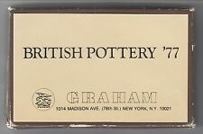 British Pottery '77 - Graham Gallery [Exhibition Catalogue in Boxed Card Form]