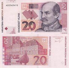 Hrvatska Croatian Kuna Money 20 KN HRK 2012 year or 2002 year