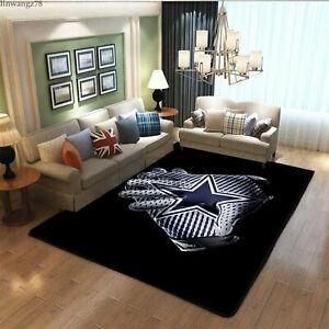 Dallas Cowboys Palm Area Rugs Living Room Carpet Bedroom Anti-Skid Floor Mat