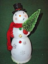 "Hallmark Bag 12"" TALL Snowman Revolving Snowflakes Inside Motorized FREE ShipNEW"