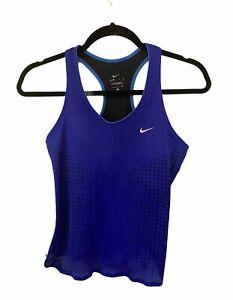 Nike Dri Fit Royal Blue Built In Bra Small Top
