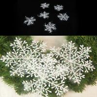 White Snowflake Ornaments Christmas Xmas Tree Decorations X 6/12/30 CRIT