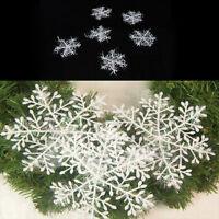 White Snowflake Ornaments Christmas Xmas Tree Decorations X 6/12/30/60 sT