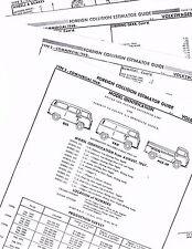 1968 1969 1970 1971 1972 - 1974 VW TYPE 2 BUS TRUCK VAN PART CRASH SHEETS MFRE 3
