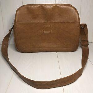 Vintage Samsonite Scandia Overnight Carry-On Brown Leather Shoulder Bag Purse