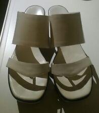 scarpe donna Costume National Platform Sandals misura 38 Ivory Pelle leather