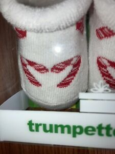 new trumpette candy cane socks 0-6m