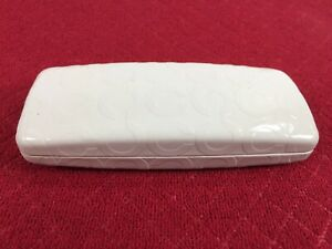 Coach Eyeglasses Case Clamshell Hard Case White Authentic Vintage Classy Style