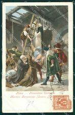 Roma Pinacoteca Vaticana Cesare Fracassini PIEGA cartolina XB4165