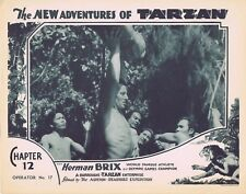 NEW ADVENTURES OF TARZAN 1935 Herman Brix Chapter 12 VINTAGE SERIAL Lobby Card 4