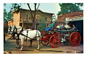 Postcard KNOTT'S BERRY FARM Ghost Town Fire Department Steam Fire Engine D3