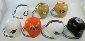 """Lot of 7 Dairy Queen 4""""  NFL Football Helmets Ice cream cups Made in USA"""