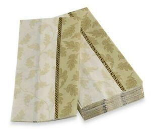 16 Foliole Cream Paper Guest Towels Buffet Napkins ~ Leaves