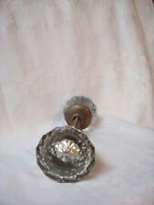2 Vintage Glass/Crystal Door Knobs w/ spindle 12 Point starburst