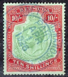 BERMUDA 1910/24 STAMP Sc. # 53 FISCAL USE