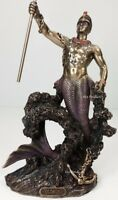 ORISHA OLOKUN God of Deep Sea Ruler of Aye Yoruba African Statue Bronze Color