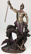 ORISHA OLOKUN God of Deep Sea Ruler of Aye Yoruba African Statue Bronze Color