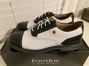 New FootJoy Premiere Series Tarlow Golf Shoes Men's Size 11 M White/Black Croc