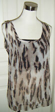 Choose Any 3 Items for $10 with this Tag ! New Animal Print Sheer Top, F Size