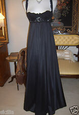 Vtg OLGA Mega Sweep Black Nightgown Bra Style 92240 French Chantilly Lace