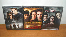 Twilight + New Moon + Eclipse Trilogy 1 2 3 DVD Lot 5-Disc Set Widescreen NEW!