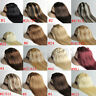 New Full Head Best Quality Clip in Human Hair Extensions Black Brown Blonde Red