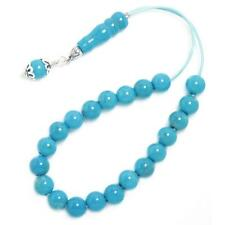 gemstone & Sterling Silver- Round Worry Beads Greek Komboloi ~Turquoise Howlite