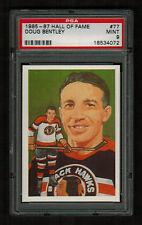 PSA 9 DOUG BENTLEY 1985 Hockey Hall Of Fame Card #77