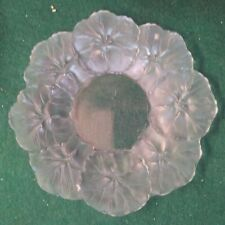 "LALIQUE SMALL PLATE - HONFLEUR - BEGONA LEAVES - 5 7/8"" ACROSS"