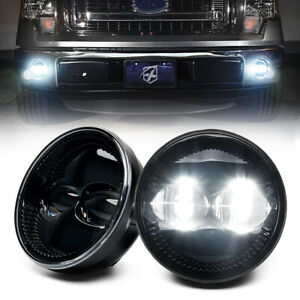 White LED Fog Lights Front Bumper Driving Lamp for 2009-2014 Ford F-150 Raptor