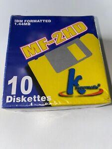 KHypermedia IBM Formatted Floppy Diskettes 1.44MB  MF-2HD 10 Pack