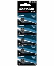 5 Stk Camelion CR1220 Knopfzellen Uhrenbatterien Knopf Zellen 3V  MHD 10-2026