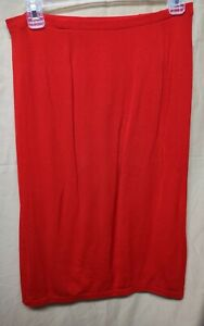 Wolford Red Skirt Size Large Pull On Knee Length