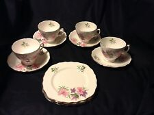 LOVELY 12pc set COLCLOUGH CUPS, SAUCERS & DESSERT PLATES Bone China from England