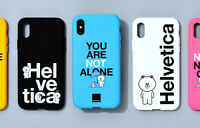 Korea LINE Friends x Helvetica Brown Cony Sally iPhone X 8 8 Plus Phone Case
