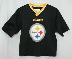 Pittsburgh Steelers Jersey Shirt Top Toddler NFL Football Black Gold 4T