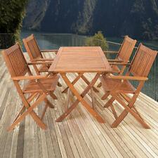 """Set de Mesa y 4 Sillas """"Sydney"""" madera de Acacia Muebles para jardín terraza"""