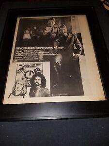 Hall And Oates War Babies Rare Original Promo Poster Ad Framed!