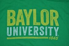 T-SHIRT S SMALL BAYLOR UNIVERSITY BEARS FOOTBALL BU FOUNDED 1845 SHIRT