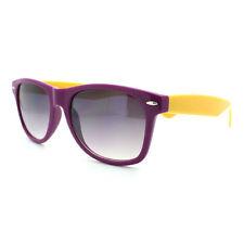 Purple Yellow 2-tone Sunglasses Square Horn Rim Frame Unisex Fashion UV400